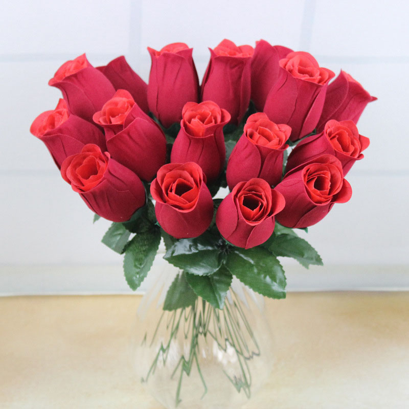 5pcs artificial flowers simulation rose valentine day gift soap, Ideas