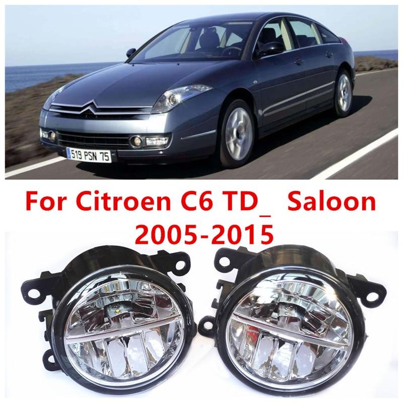 ФОТО For Citroen C6 TD_  Saloon  2005-2015  10W Fog Light LED DRL Daytime Running Lights Car Styling lamps
