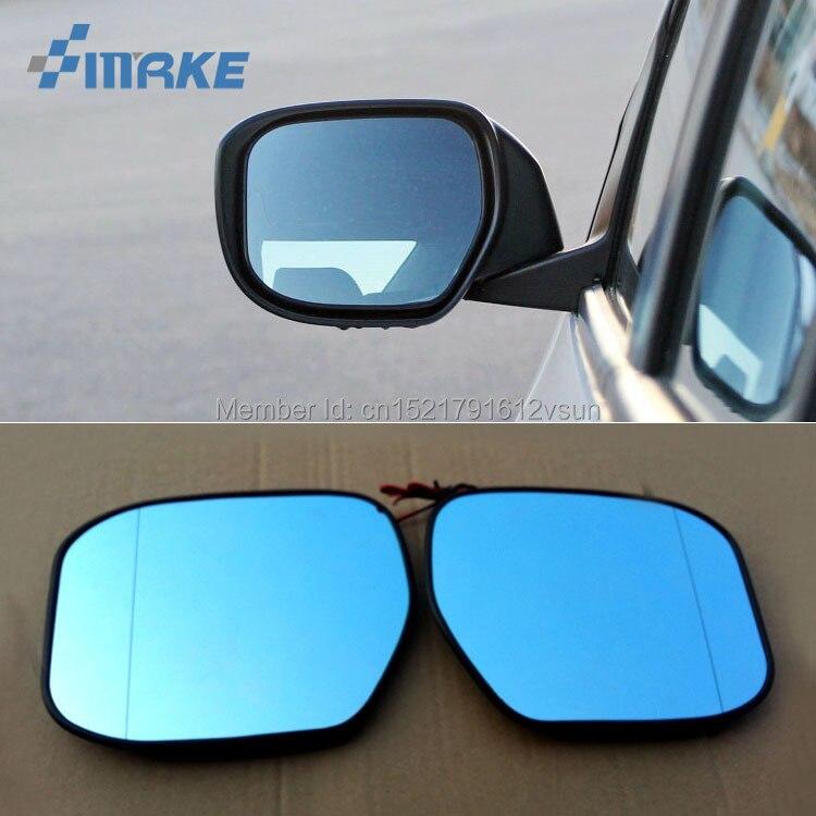 SmRKE 2 pièces pour Honda City 2008-2014 rétroviseur lunettes bleues grand angle LED clignotants lumière chauffage électrique