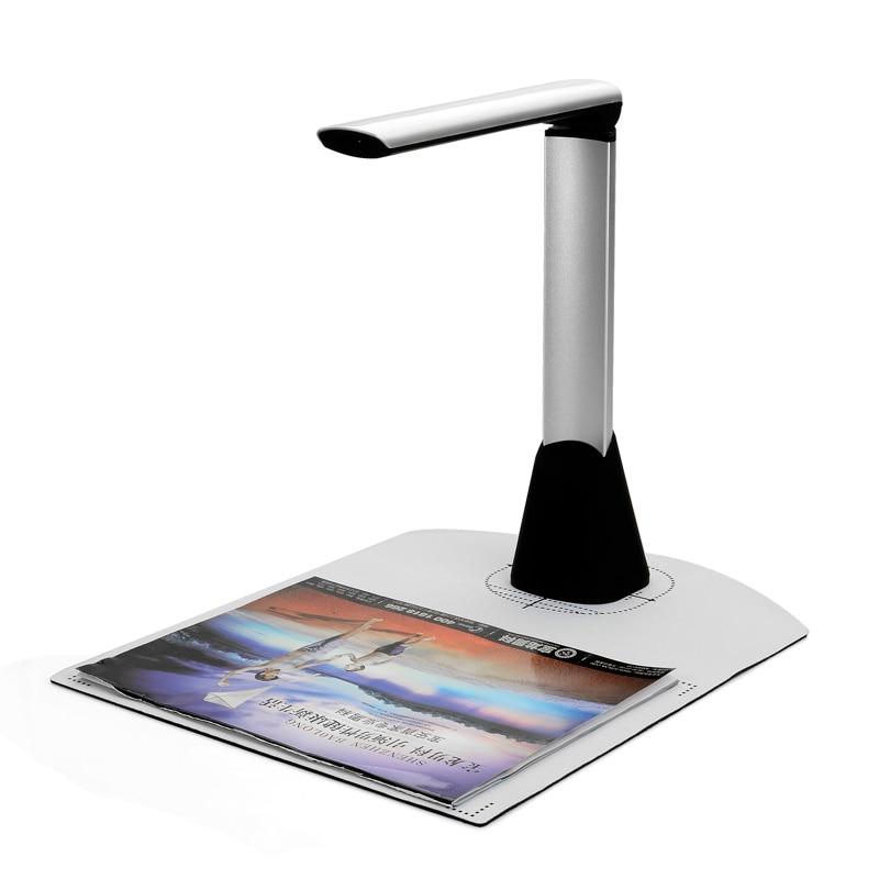 Bilgisayar ve Ofis'ten Tarayıcılar'de Taşınabilir A4 Belge Tarayıcı Kitap Tarayıcı Ayarlanabilir yüksek hızlı USB Kitap Görüntü Kamera 10 mega piksel HD Yüksek Çözünürlüklü A4 a5 A6