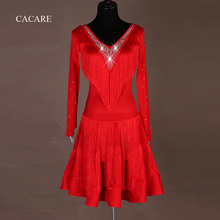 CACARE Customized Latin Dance Dress for Women Latin Dress Fringe Salsa Latin Dance Competition Dresses 4 Choices D0633 Tassels салат лидер лолло бионда 0 5 г