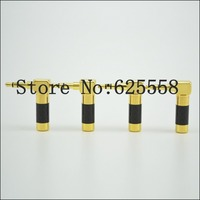 2X Hifi audio Gold plated audios tyle L Shape 90 Degree 3.5mm 3 poles Male stereo phono DIY Solder Adapter