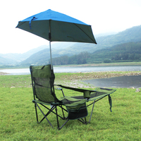 Ağır hizmet tipi Recliner Sandalye Quik Gölge Ayarlanabilir Gölgelik Katlanır kamp sandalyesi Destekler 100 KG Açık  Balıkçılık  Bahçe