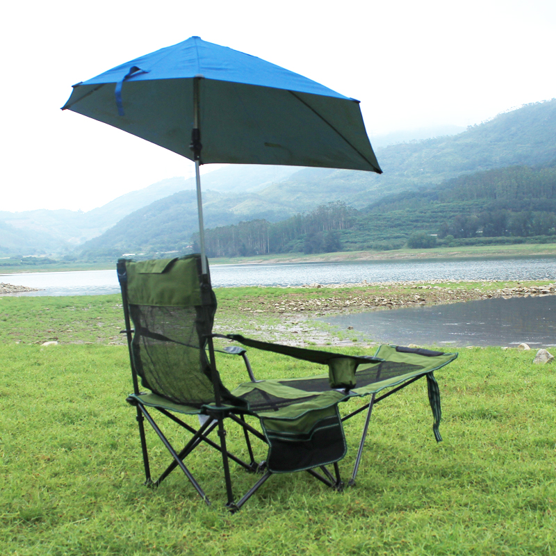 Folding Heavy Duty Recliner Chair Quik Shade Adjustable Canopy Folding Camp Chair Supports 100KG Outdoor, Fishing, Garden