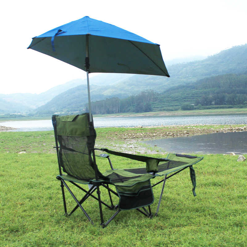 Folding Heavy Duty Recliner Chair Quik Shade Adjule Canopy Camp Supports 100kg Outdoor