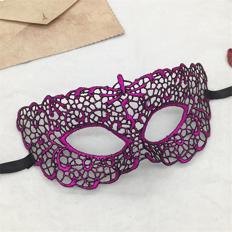Фиксированная форма, Дамская Сексуальная Маскарадная маска из кружева для карнавала, Хэллоуина, выпускного вечера, Вечерние Маски, фиолетовые, горячее тиснение#35 - Цвет: PM022TZ