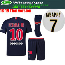 f3603d14e best quality 2018 2019 PSG Adlut soccer Jerseys camisetas shirt survetement  man Football shirt. 18 19 kit+sock Free Shipping