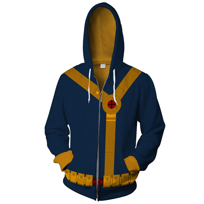 new fashion hoodie Scott Summers zipper hoodie Cyclops hoody with the same clothes Superhero Hoodies Zipper Outerwear xxs-4xl