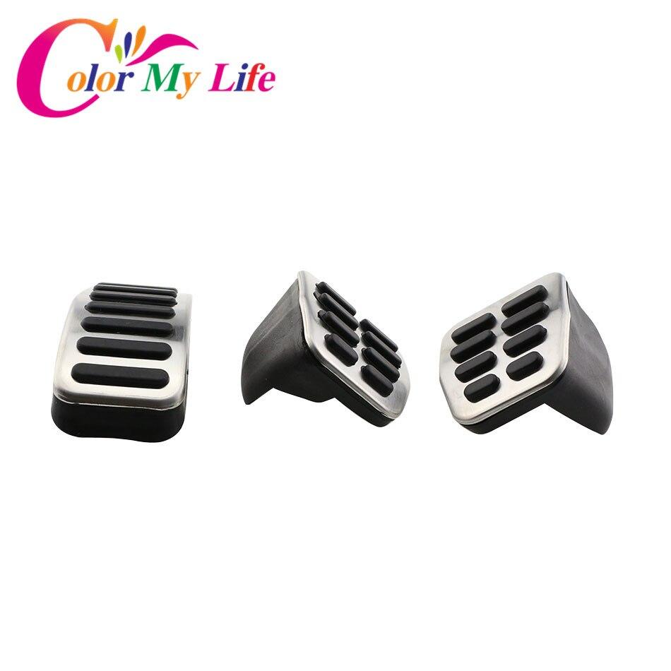 Novo aço inoxidável mt at gas pedal almofadas capa do carro para vw polo 6n 9n jetta mk4 para bora golf mk4 besouro cabrio raposa