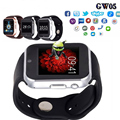 """Gps 3g wifi câmera gps gw05 smart watch mtk 6572 duplo núcleo 1.54 """"tela 512 mb Ram 4 gb Rom Android 4.4 Cartão Do Sim Bluetoot 4.0"""