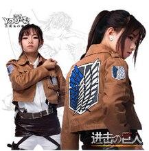 Attacco su Titano Jacket Shingeki no Kyojin giacca Cosplay Legione Cappotto Qualsiasi Dimensione di Alta Qualità Eren Levi