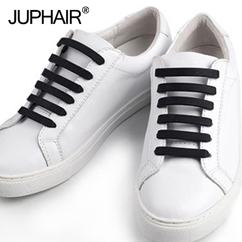 JUP 1 Set / 20 Roots  Shoelace Novelty  Flat No Tie Unisex Elastic Silicone Laces For Mens Womens All Sneakers Fit Girth Popular