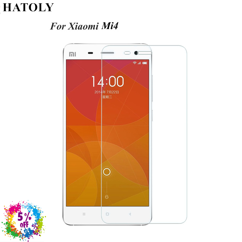2PCS Tempered Glass For Xiaomi Mi4 Ultra thin Screen Protector for Xiaomi Mi4 HD Toughened Film