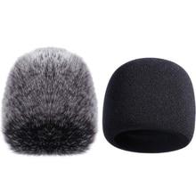 Mic Cover Sponge Microphone Windscreen For Blue Yeti, Yeti Pro Condenser (Sponge And Furry Windscreen, 2 Pack)