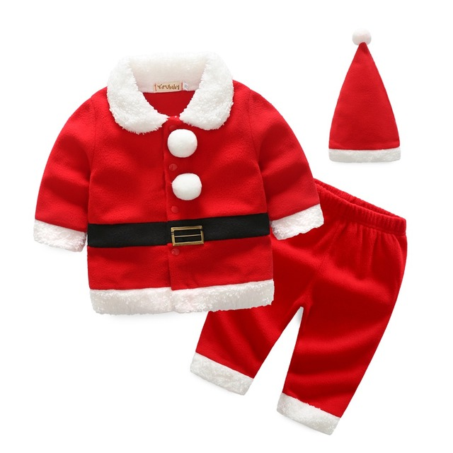 167028d94 Christmas Costume Baby girls Clothes Sets Baby Santa Claus Long ...
