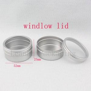 Image 2 - Recipientes de alumínio vazios do creme dos cuidados com a pele 40g x 100 com tampa da janela, tampa de alumínio da janela do frasco do metal, potenciômetro da lata da garrafa do metal
