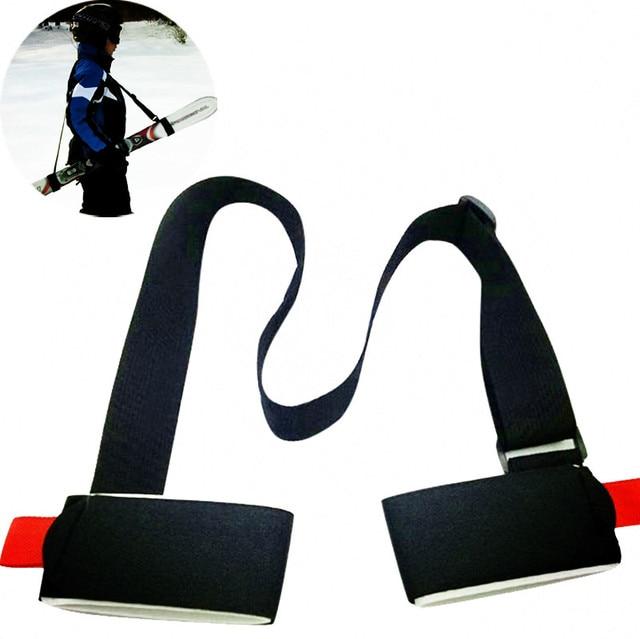 Nouveau Ski snowboard réglable sac à dos facile Ski de fond pôle épaule porte-main poignée de cils double planche sangle sac noir