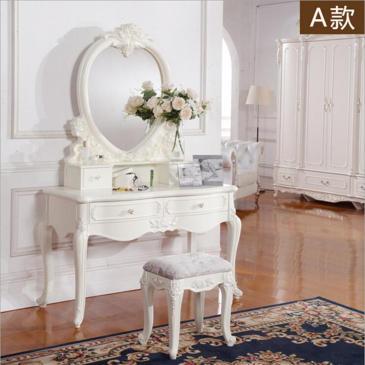 White European Mirror Table Dresser French Bedroom Furniture  O1191