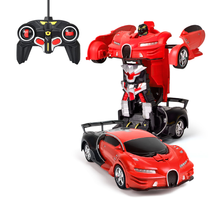 Sports RC Car 2 In 1 Transformation Robots Vehicle Models Deformation Radio Remote Control Cars Fighting Toy Gifts For Children radio-controlled car