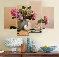 Amerikaanse land stijl decoratieve schilderen unframed mooie bloem canvas schilderijen 4 panelen home decor foto muur art
