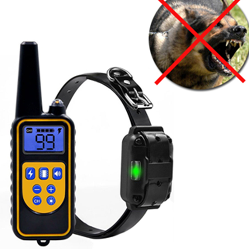 Dog-Training-Collar Remote Rechargeable Waterproof 1000m With Lcd-Display