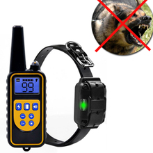 1000m מרחוק אילוף אלקטרוני הלם צווארון עם LCD תצוגה עמיד למים נטענת כלב אימונים