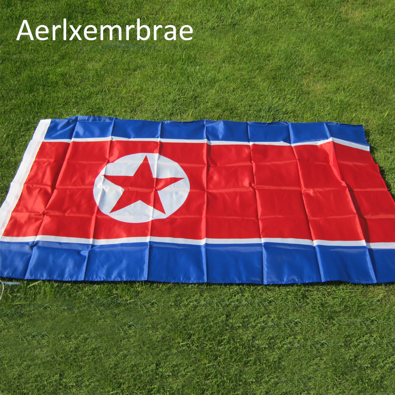 aerlxemrbrae flag 90*150cm Democratic People's Republic of Korea flag polyester flags big banners north korea flag image