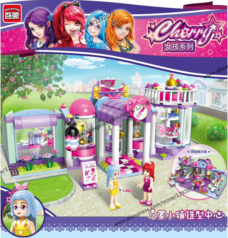 New Model building kits compatible with lego shirley's Beauty SPA Shop 3D blocks Educational toys hobbies for children