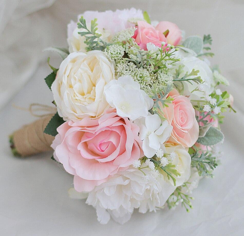 Modabelle Mariee Main Fleur Bouquet Blanc Pivoine Rouge Blanc Rose