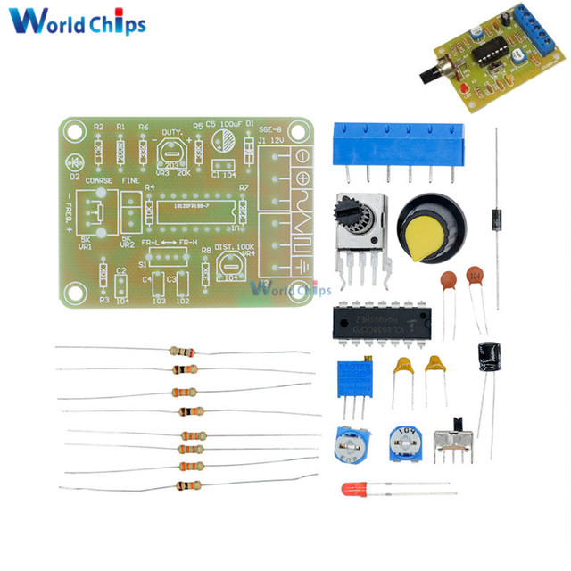 1 Set ICL8038 Monolithic Function Signal Generator Module DIY Kit Sine Square Triangle