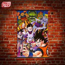 Japanese Anime Wall Scroll Paintings One Piece Dragon Ball Naruto Black Butler Art Canvas Paintings Wall Picture 60cmx30cm