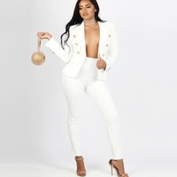 Newest Autumn Winter Elegant Office Lady Business Suits Female Two Piece Sets Femme Long Sleeve Blazer Jacket and Trouser suits