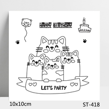 ZhuoAng Happy Birthday Cartoon Clear Stamps For DIY Scrapbooking/Card Making/Album Decorative Silicon Stamp Crafts