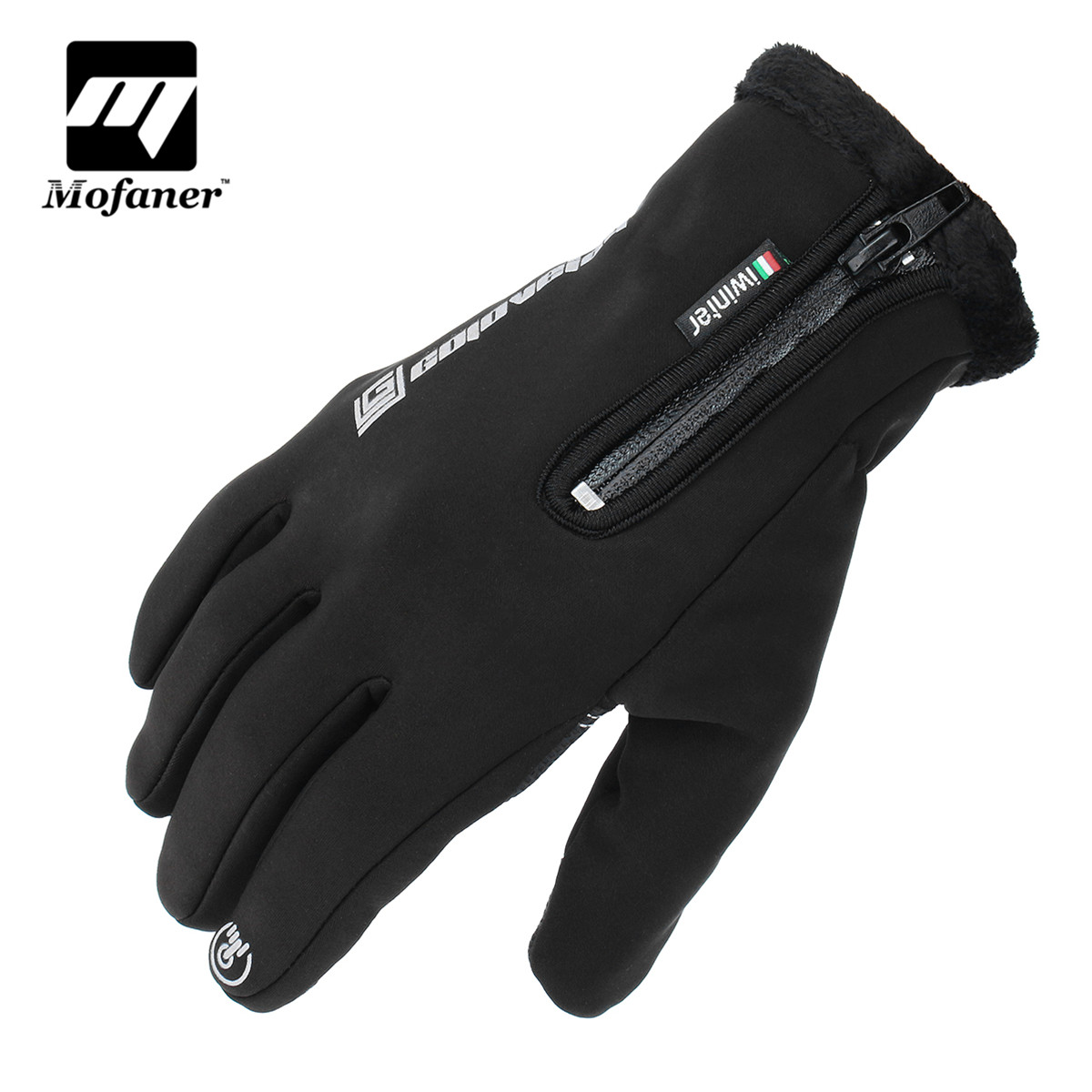 Mofaner Waterproof Motorcycle Touch Screen Gloves Windproof Fashion Cycling Outdoors Full Finger Gloves Keep Warm Glove