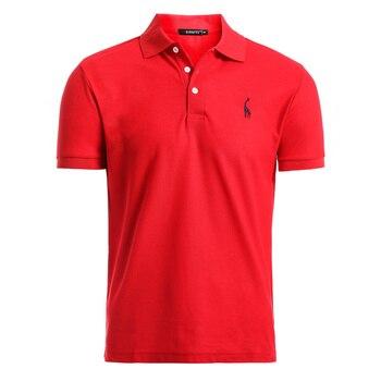 Man Polo Shirt Mens Casual Deer Embroidery Cotton Polo shirt Men Short Sleeve High Quantity polo men 1