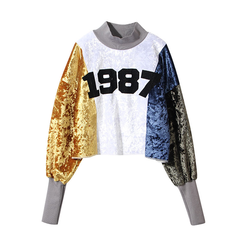 ec5ba2d69e2b0 2018 New Crop Top Hoodie Spring Women Velvet Long Sleeve Sweatshirts Women  Hoodies Pullover Jumper Top