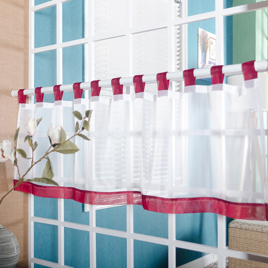 Wohnzimmerfenster Modern Us 4 96 43 Off Short Curtains For Kitchen Modern White Tulle Curtain For Living Room Windows Valance Roman Drapes Door Curtains Blinds Cortina In
