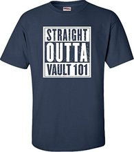 Cheap  Graphic Tees Straight Outta Vault 101 Short Sleeve Top O-Neck T Shirt For Men