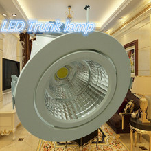 Free Shipping 40W Round COB With Driver Passed CE ROHS LED Gimbal Embedded Trunk Lamps Lighting