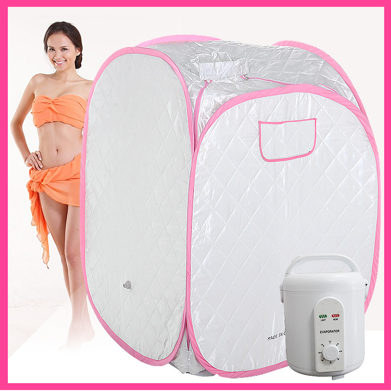 FIR Portable Sauna spa steam room red SAUNA BOX mini sauna steam 110V or 220V 900W new products one person portable steam sauna room home steam sauna box portable steam sauna tent