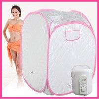 FIR Portable Sauna spa steam room red SAUNA BOX mini sauna steam 110V or 220V 900W