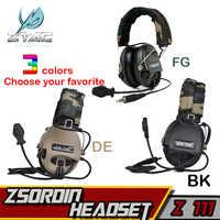 Z-TAC Sordin Peltor zestaw słuchawkowy Softair Element zestaw słuchawkowy aktywnych Airsoft taktyczna wojskowy ZTac słuchawki kask Adapter IPSC słuchawki