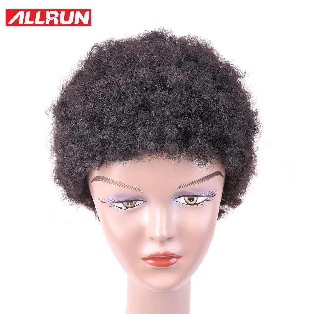 ALLRUN Φυσικό χρώμα Bob Περούκες Σύντομη - Ανθρώπινα μαλλιά (για μαύρο) - Φωτογραφία 3