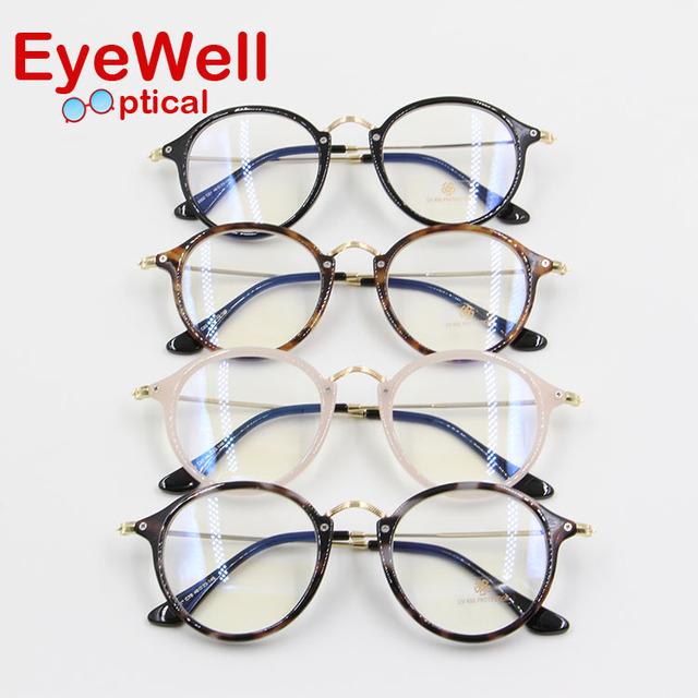 Rodada Do Vintage da moda TR90 frame ótico marca retro óculos para miopia ou óculos de leitura 2016
