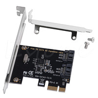 PCIe PCI Express To SATA3 0 2 Port SATA III 6G Expansion Controller Card Adapter