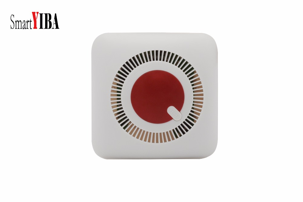 SmartYIBA Home Security Independent Combustible Gas Leakage Detector Natural Gas Sensor With Voice Warning Alarm Sensor hf5111 direct factory wireless water overflow leakage alarm sensor detector 130db voice work alone water alarm home security
