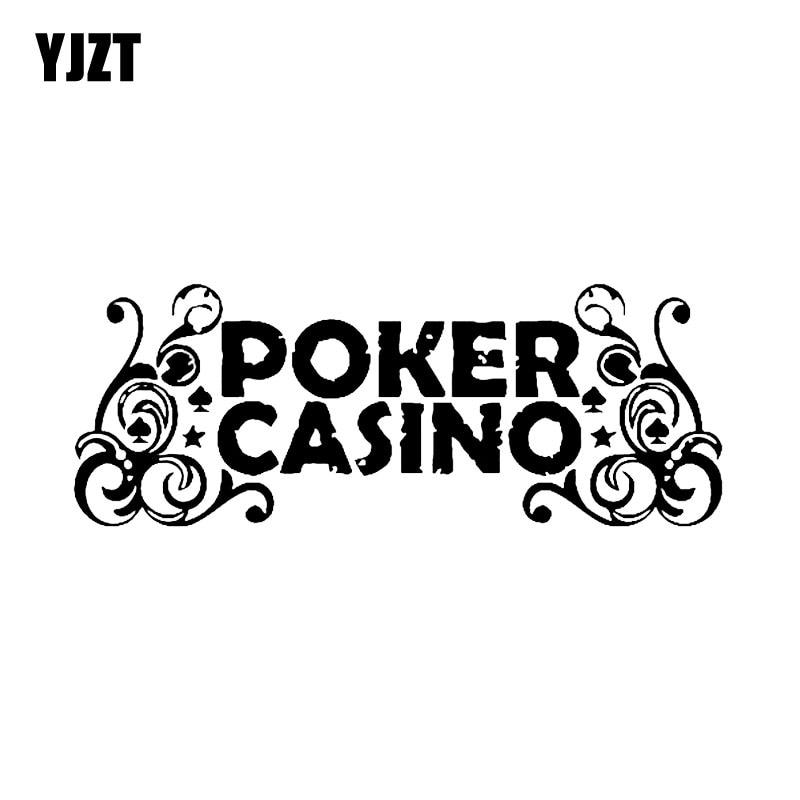 YJZT 16.1*6CM Interesting Casino Poker Car Sticker Motorcycle Decorative Pattern C12-0048