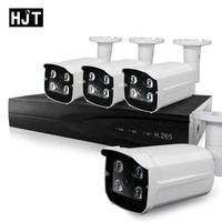 HJT 8CH NVR CCTV System 48V POE 4CH 5 0MP IP Camera Kit 36IR Night Vision