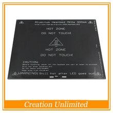 Más grande! Impresora 3D MK2A MK2B 2015 300*300*3.0mm RepRap RAMPAS 1.4 PCB Heatbed Aluminio Placa Caliente Para Prusa Mendel y