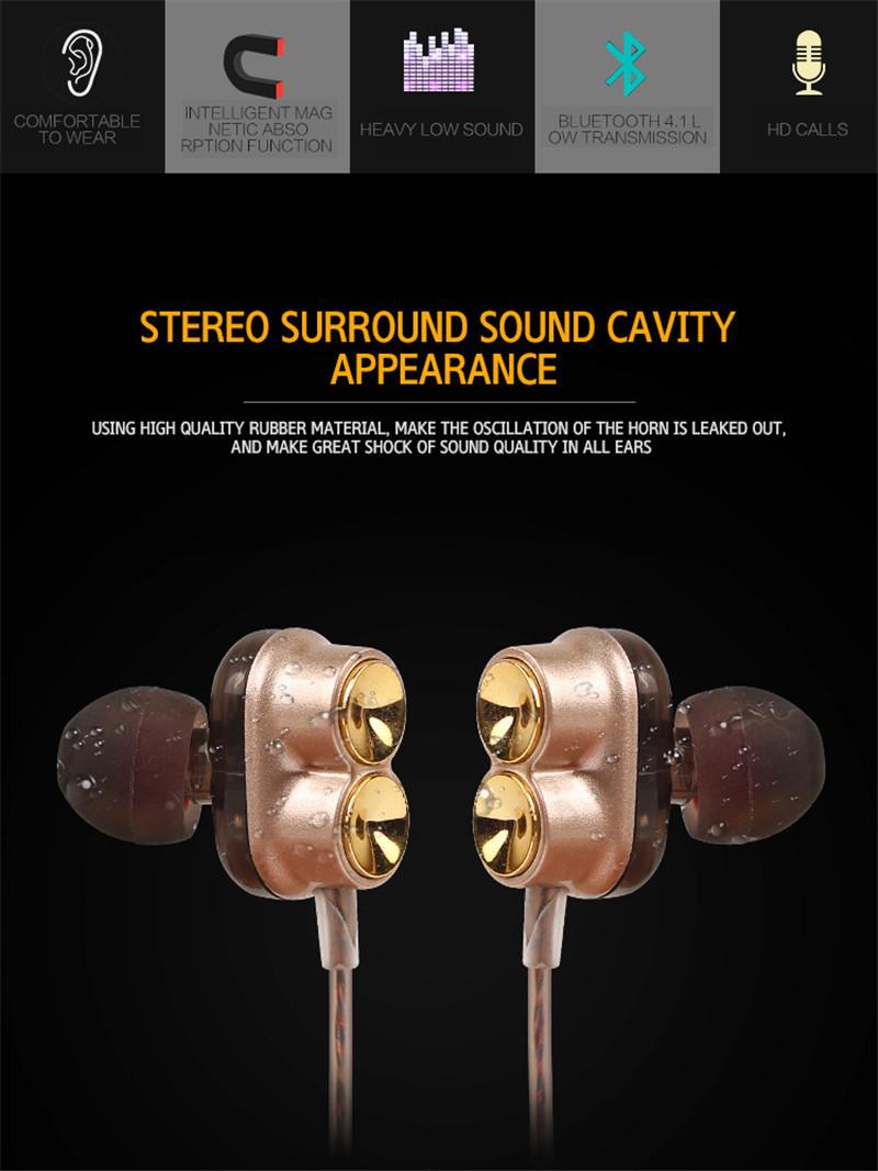 4.1 Running Sport Magnet Bluetooth Headset headphone 3